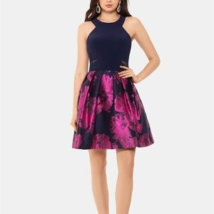 X by XSCAPE Halter-Neck Fit & Flare Dress